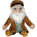 "Leonardo da Vinci ""Little Thinker"" doll from Unemployed Philosophers Guild"