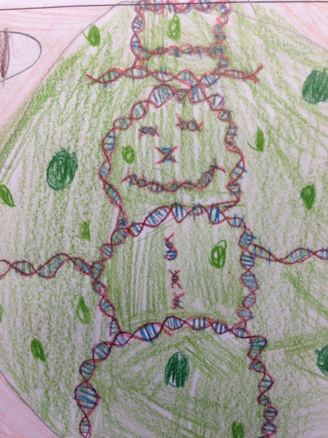 DNA Man!  (Microscopic, of course!)
