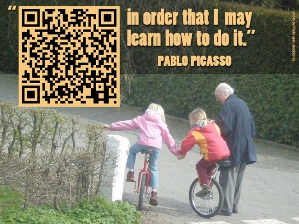 "QR Code Poster from Tony Vincent's ""Learning in Hand"" blog"