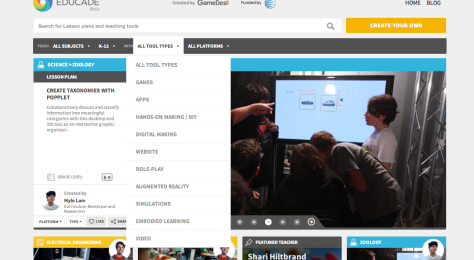 screenshot from Educade