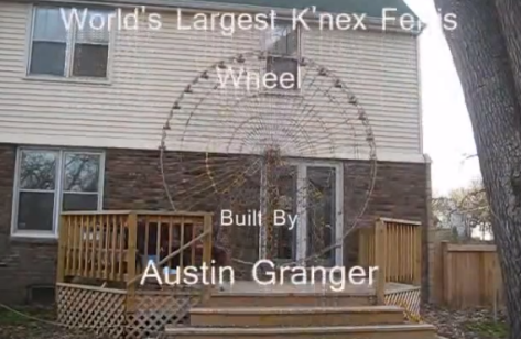 World's Largest K'nex Ferris Wheel - created by Austin Granger