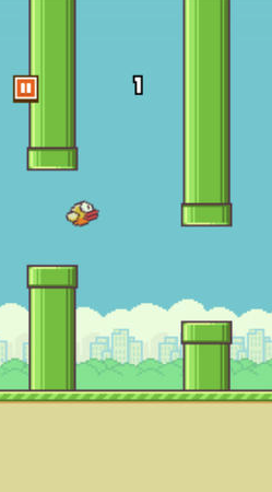 Screen shot from Flappy Bird