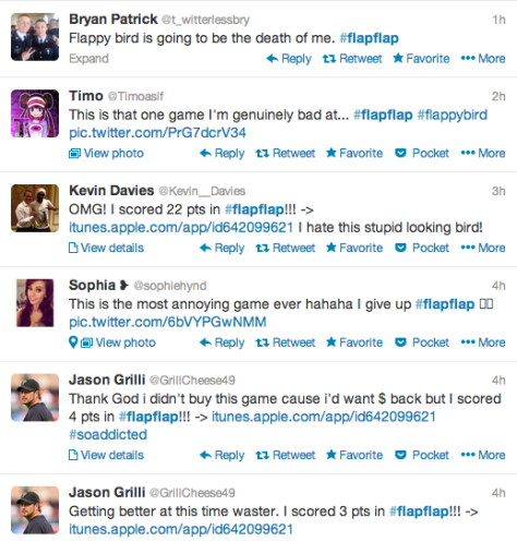 Flappy Bird Tweets During the Superbowl