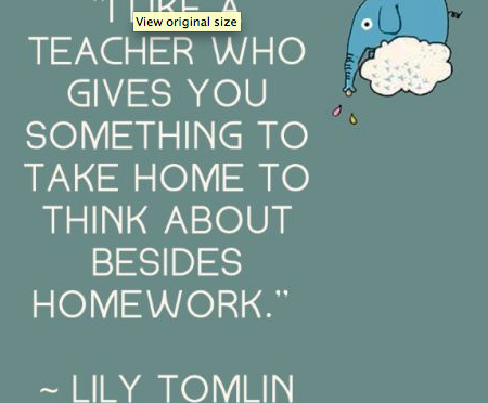 What Do Your Students Take Home?