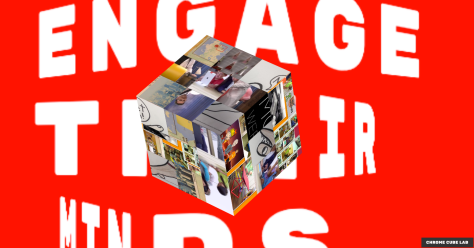 Image Cube with Background