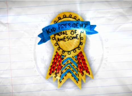 Kid President Medal of Awesome