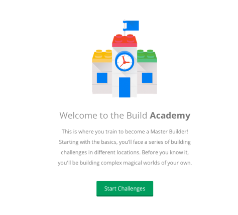 Screenshot from Lego/Google Chrome Build Academy