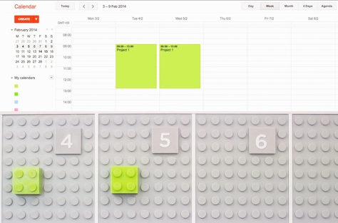 Not only is this calendar made of Legos, but it digitally syncs!  Find out more in this article by Core77!