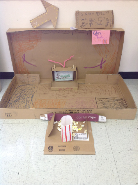 Cardboard Theater (with a scrolling moving picture) created by one of my 3rd graders