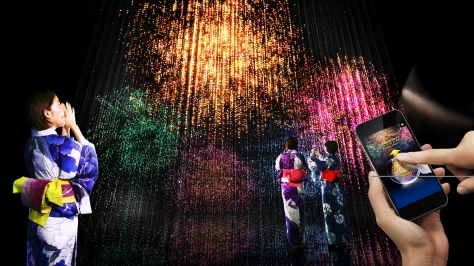 image of Crystal Fireworks by teamLab