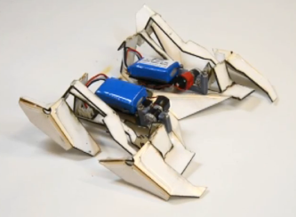 Check out this story from the New York Times, which includes a video of a robot that starts out flat, then folds itself into a 3-D creature.