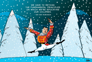 "image from: ""Sir Ken Robinson - Full Body Education"" by Gavin Than of Zen Pencils"