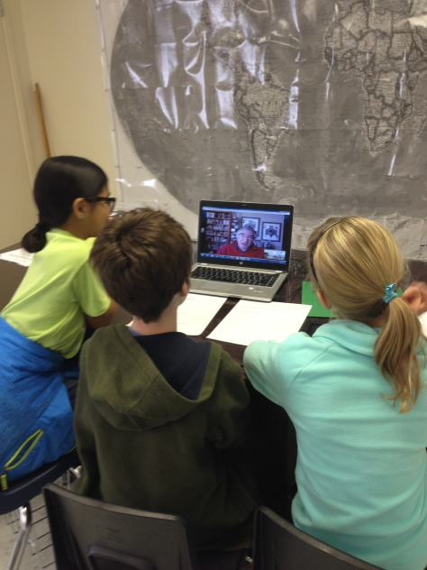 My students Skype with an expert on global warming.