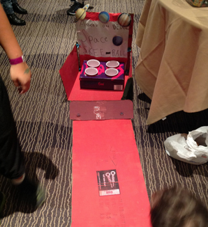 One of our 2014 Cardboard Arcade games