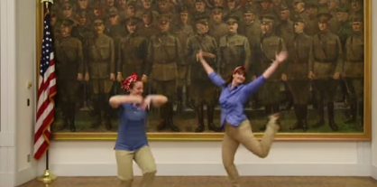Screen Shot from First Division Museum's Dance Off 2 Submission