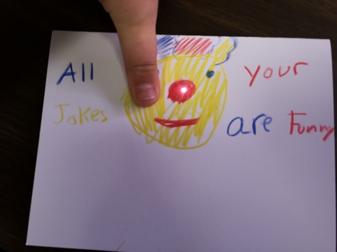 Clown Circuit Fathers Day Card