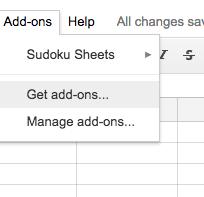 Sudoku Add-On