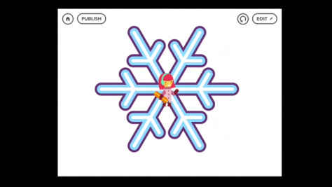 from Hopscotch Snowflake Tutorial