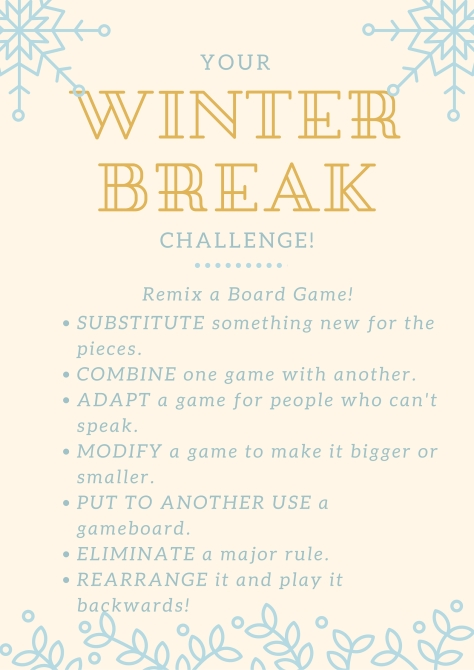 Your Winter Break Challenge