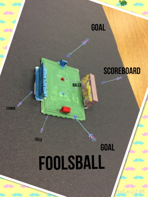 Foolsball - a new sport designed by a 5th grader for the fictional residents of City X