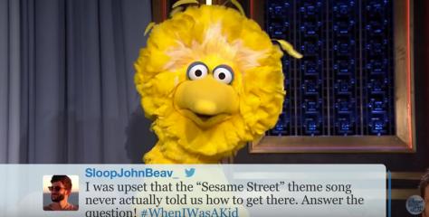 screen shot from Sesame Street Hashtags