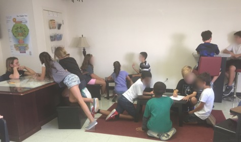 5th graders using our new seating area