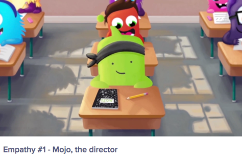 Screen shot from Class Dojo video, Empathy #1