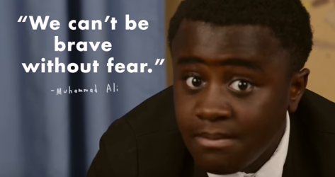 "Screen shot from Kid President's, ""The Scariest Thing"""