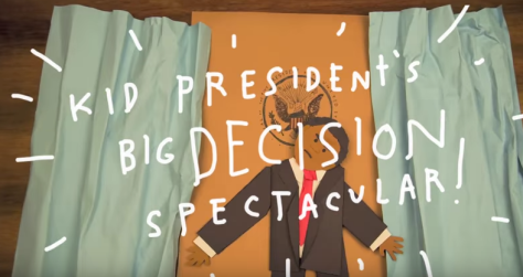 "screen shot from, ""Making Tough Choices with Kid President"""