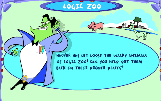 [ZSVE_7041]  PBS Cyberchase Games   Engage Their Minds   Venn Diagram Logic Zoo      Engage Their Minds