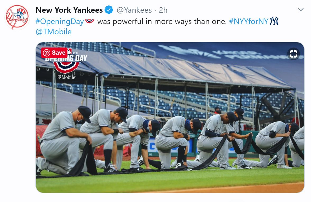 baseball kneeling